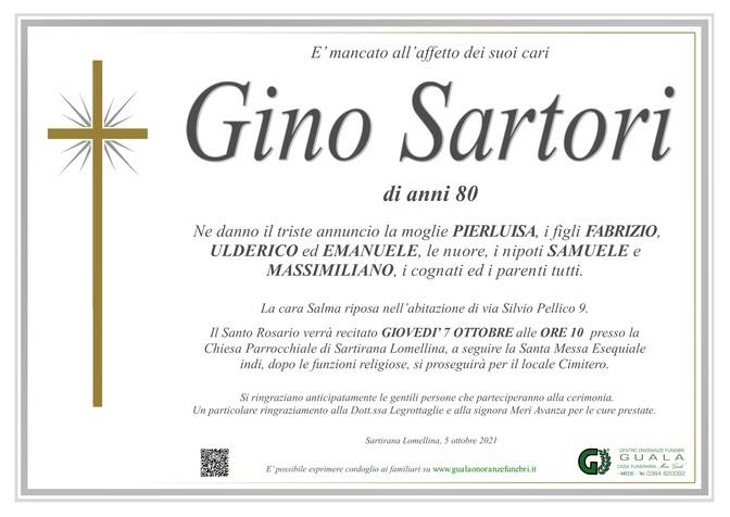 Necrologio di Gino Sartori