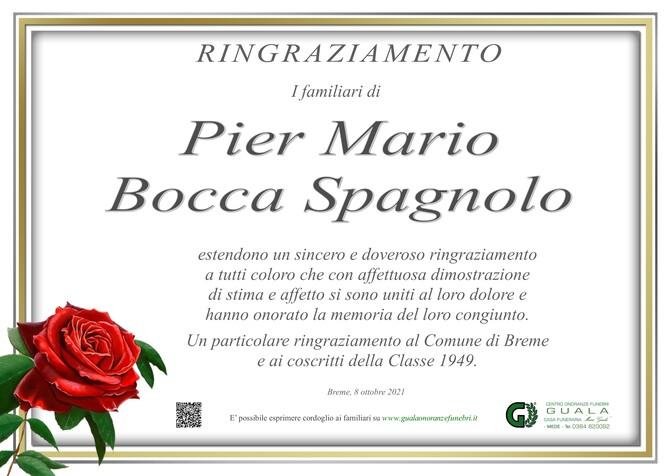 Ringraziamenti per Pier Mario Bocca Spagnolo