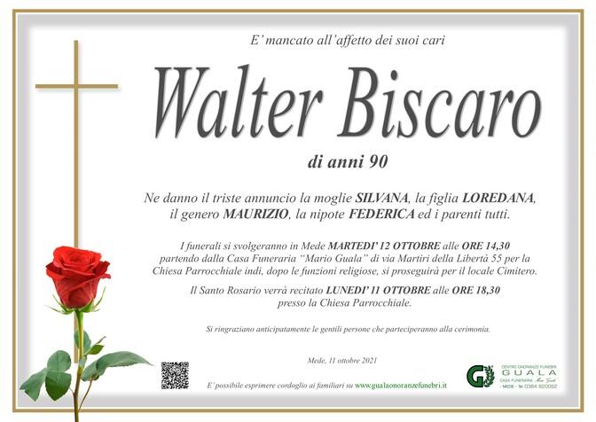 Necrologio di Walter Biscaro