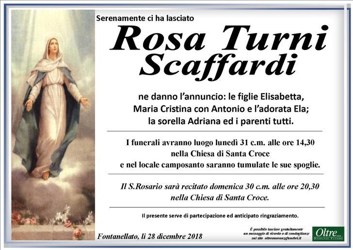 Necrologio di Rosa Turni Scaffardi