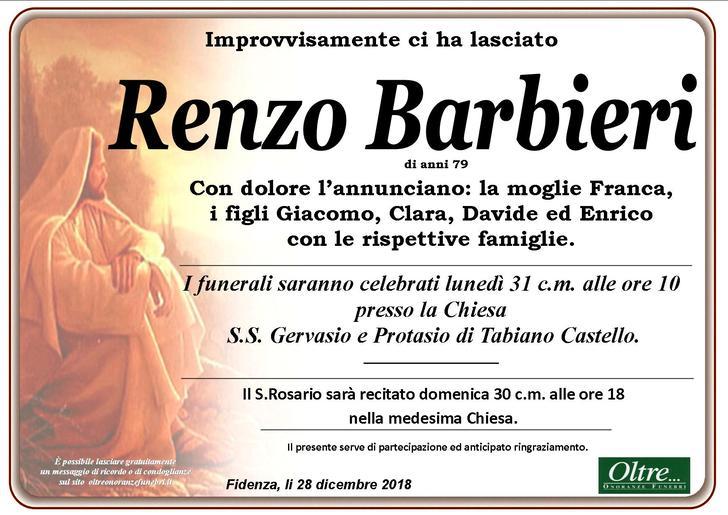 Necrologio di Renzo Barbieri