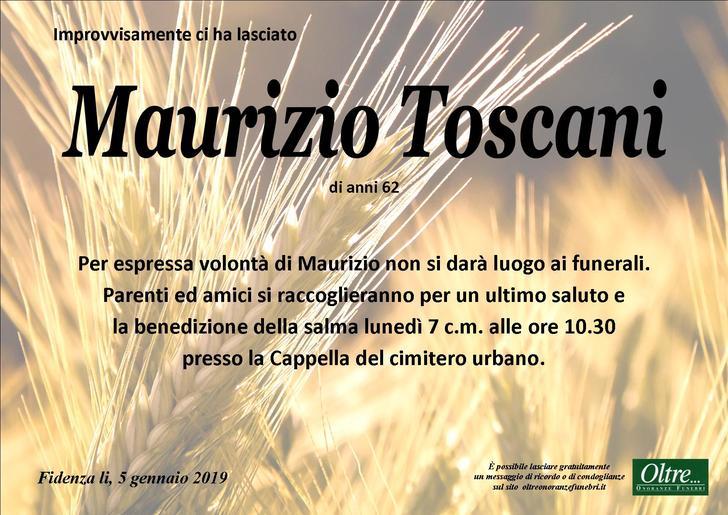 Necrologio di Maurizio Toscani