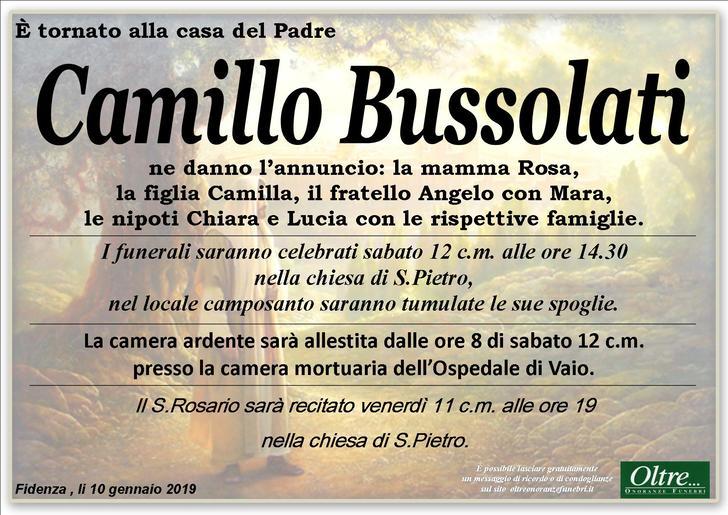 Necrologio di Camillo Bussolati