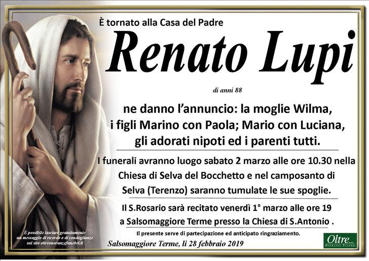Necrologio di Renato Lupi