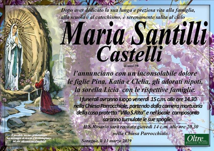 Necrologio di Maria Santilli Castelli