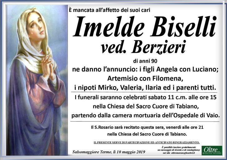 Necrologio di Imelde Biselli ved. Berzieri