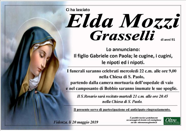 Necrologio di Elda Mozzi