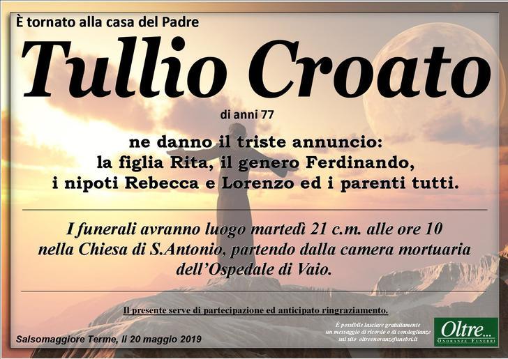 Necrologio di Tullio Croato