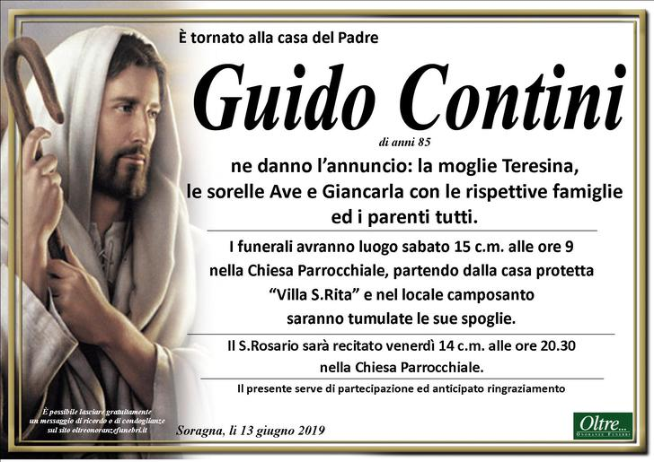 Necrologio di Guido Contini
