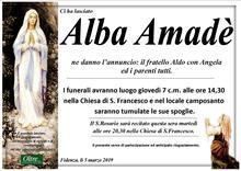 Necrologio di Alba Amadé