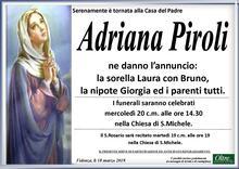 Necrologio di Adriana Piroli