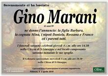 Necrologio di Gino Marani