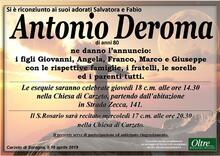 Necrologio di Antonio Deroma