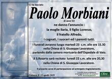 Necrologio di Paolo Morbiani