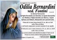 Necrologio di Odilia Bernardini