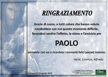 Ringraziamento per Paolo Morbiani