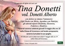 Necrologio di Tina Donetti