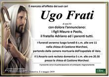 Necrologio di Ugo Frati