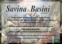 Necrologio di Savina Basini
