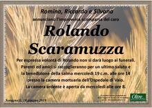 Necrologio di Rolando Scaramuzza