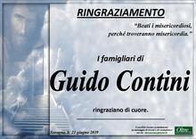 Ringraziamento per Guido Contini