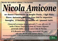 Necrologio di Nicola Amicone