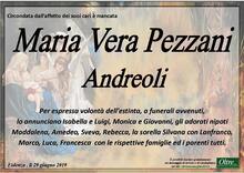 Necrologio di Maria Vera Pezzani Andreoli