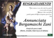 Ringraziamento per Annunciata Bergamaschi Zani