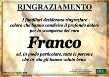 Ringraziamento per Franco Zardi