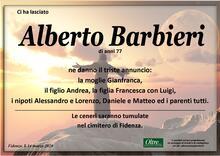 Necrologio di Alberto Barbieri