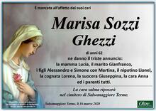 Necrologio di Marisa Sozzi Ghezzi
