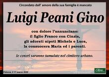 Necrologio di Luigi Peani