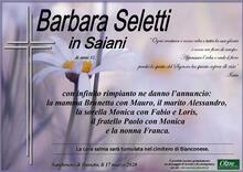 Necrologio di Barbara Seletti