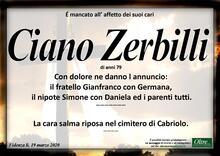 Necrologio di Ciano Zerbilli