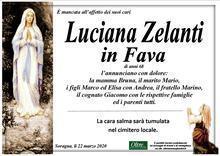 Necrologio di Luciana Zelanti in Fava