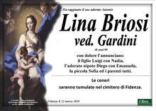 Necrologio di Lina Briosi ved. Gardini