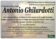 Necrologio di Antonio Ghilardotti