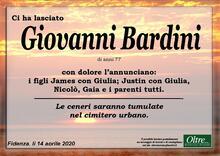 Necrologio di Giovanni Bardini