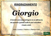 Ringraziamento per Giorgio Gotri