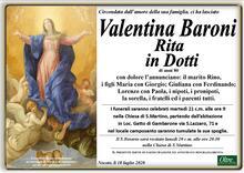 Necrologio di Valentina Baroni in Dotti