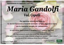 Necrologio di Maria Gandolfi
