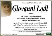 Necrologio di Giovanni Lodi