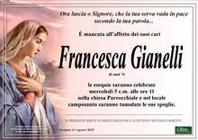 Necrologio di Francesca Gianelli