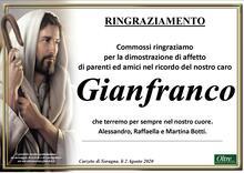 Ringraziamento per Gianfranco Botti