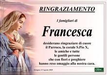 Ringraziamento per Francesca Gianelli