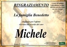 Ringraziamento per Michele Benedetto