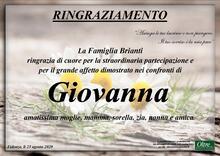 Ringraziamento per Giovanna Curati in Brianti