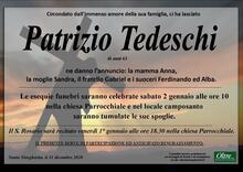 Necrologio di Patrizio Tedeschi