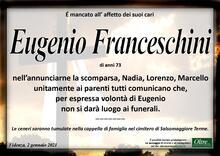 Necrologio di Eugenio Franceschini