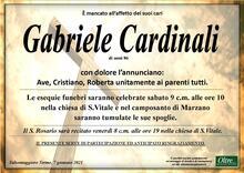 Necrologio di Gabriele Cardinali